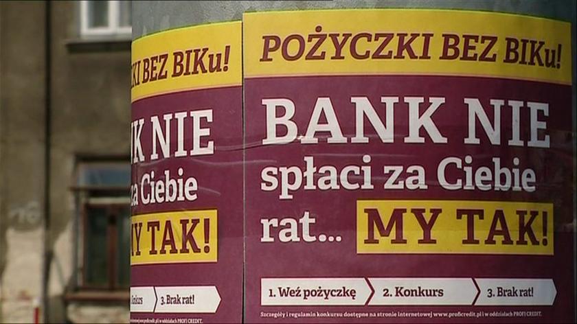 Tomasz Chróstny o firmach pożyczkowych