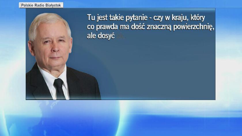 """Kaczyński chce dużego lotniska zapewniającego """"połączenia z całym światem"""""""