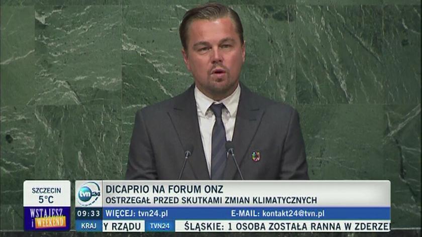 Leonardo di Caprio w ONZ o zmianach klimatu