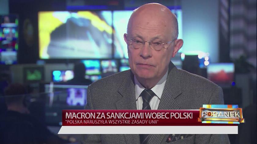 Marek Borowski o słowach Macrona nt. sankcji wobec Polski