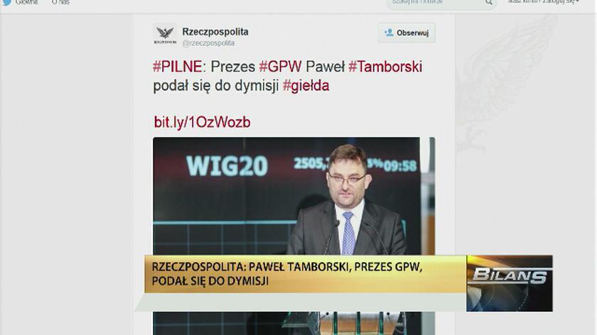 Paweł Tamborski podał się do dymisji