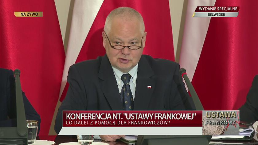Szef NBP o nowej ustawie frankowej