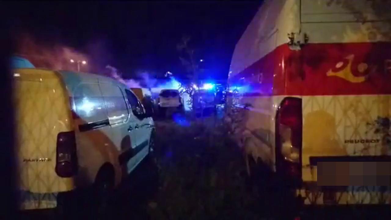 Na parkingu spłonęło dziewięć samochodów Poczty Polskiej