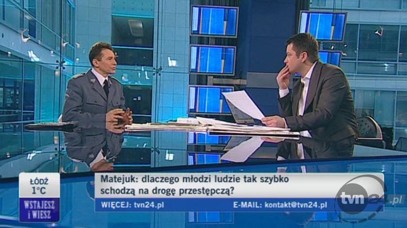 A. Matejuk potwierdza, że wśród zatrzymanych jest zabójca (TVN24)
