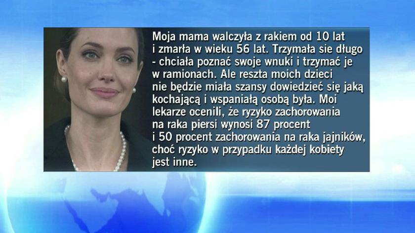 Aktorka tłumaczy dlaczego zdecydowała się na operacje