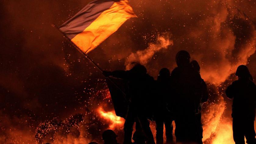 Barykady w Kijowie znów płoną