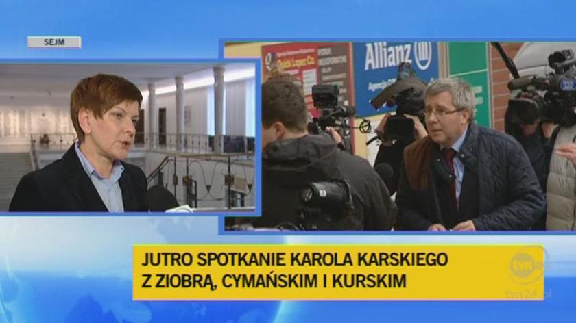 """Beata Szydło krytykuje zachowanie """"ziobrystów"""""""