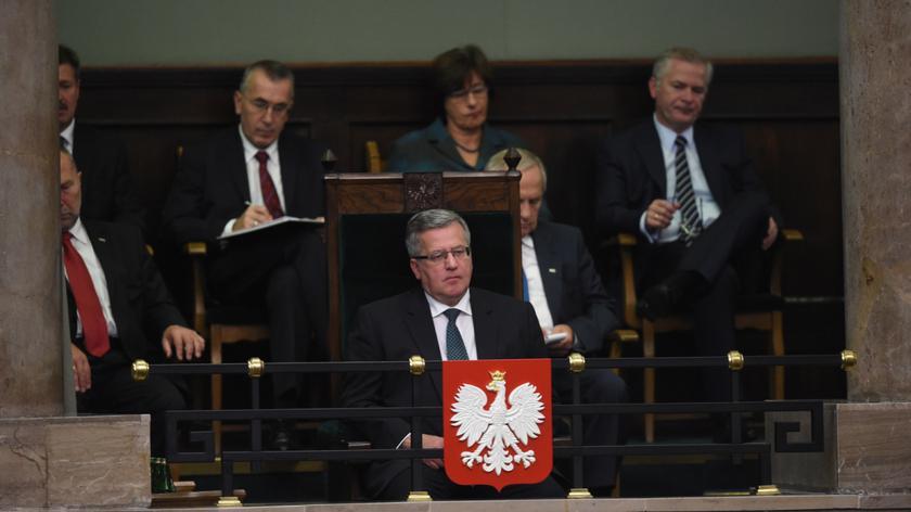 Bronisław Komorowski dobrze ocenia expose Ewy Kopacz