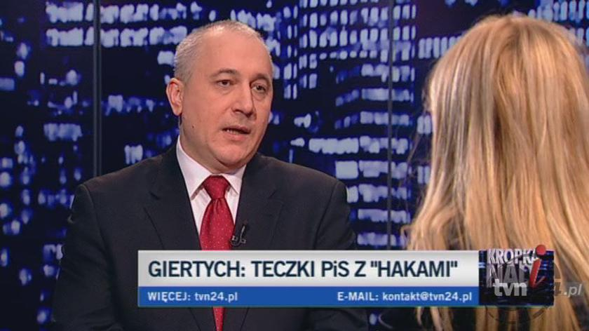 Brudziński o Giertychu/TVN24