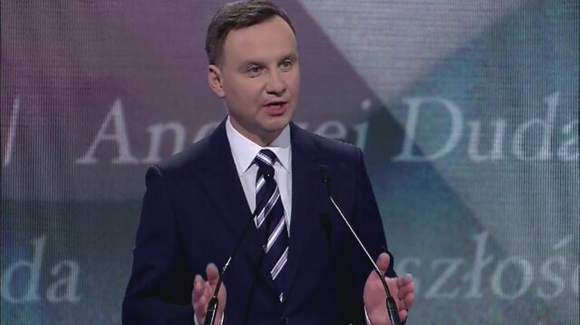 Całe wystąpienie kandydata na prezydenta Andrzeja Dudy z 7 lutego 2015 roku