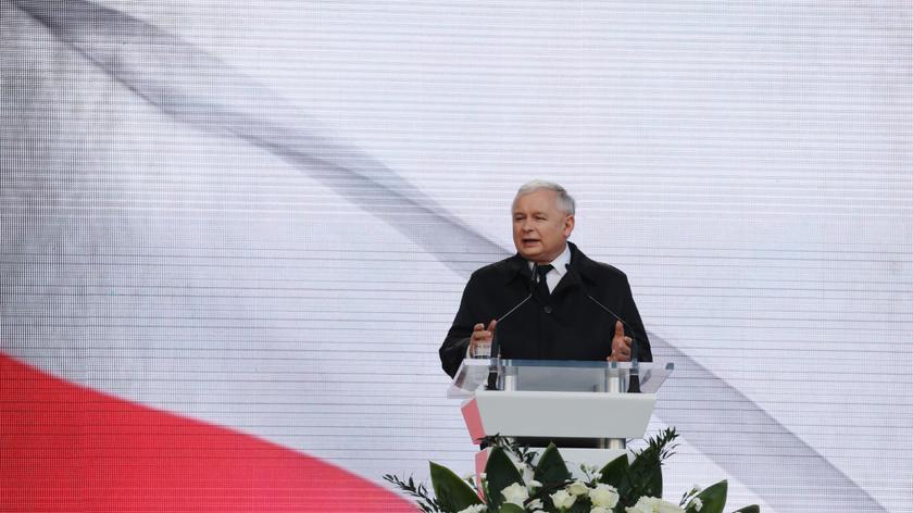 Całe wystąpienie prezesa PiS Jarosława Kaczyńskiego