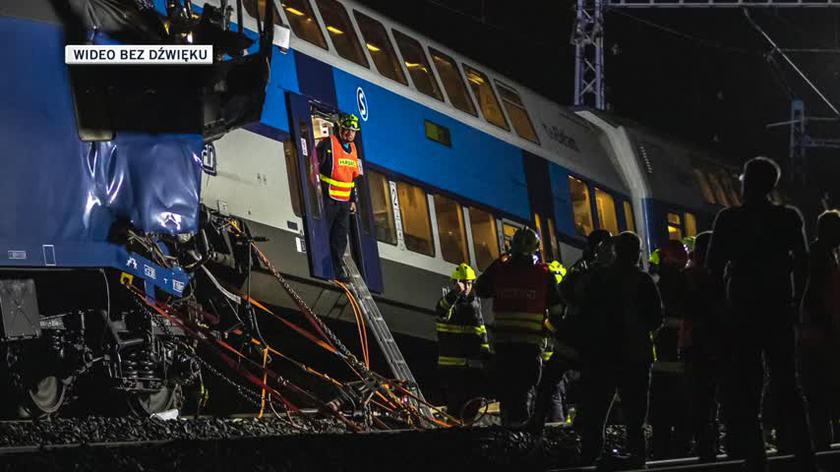 Zderzenie pociągów w miejscowości Czeski Brod w Czechach