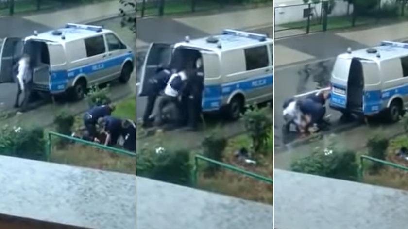 Policja odniosła się do publikowanych nagrań (wideo z 13 września 2021 roku)