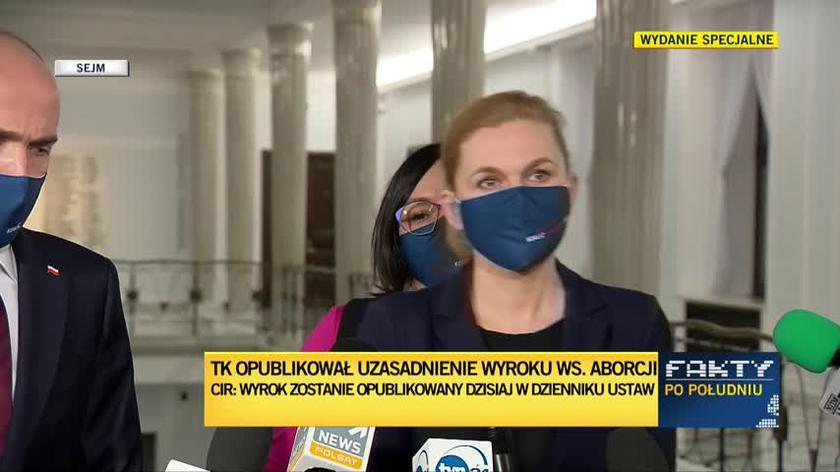 Nowacka: odpowiedź już się szykuje na ulicach