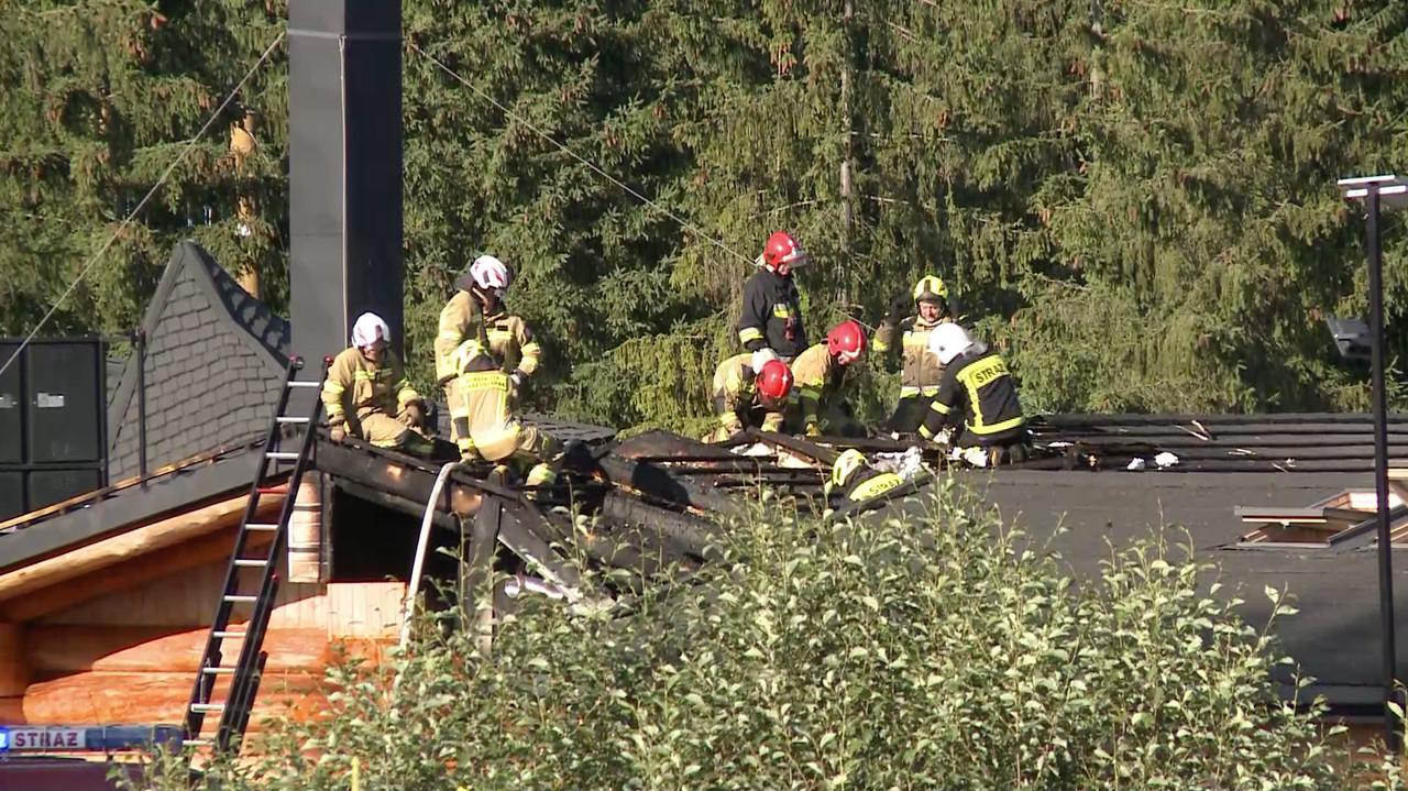 Pożar sauny w Szaflarach. Ranne dwie osoby