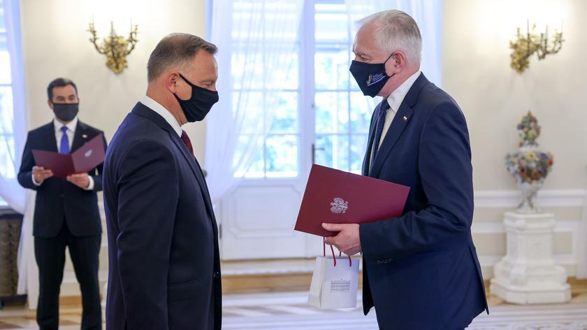 Prezydent wręczył Gowinowi odwołanie z funkcji wicepremiera, ministra rozwoju, pracy i technologii