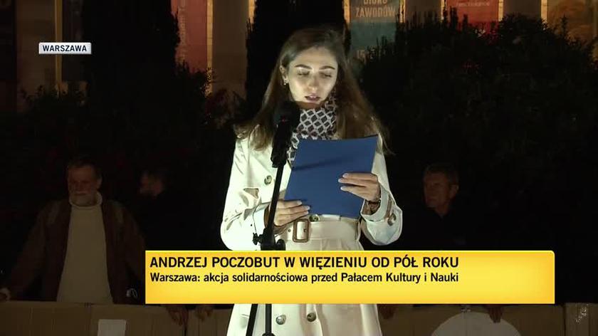 Pod PKiN odczytano list od Swietłany Cichanouskiej
