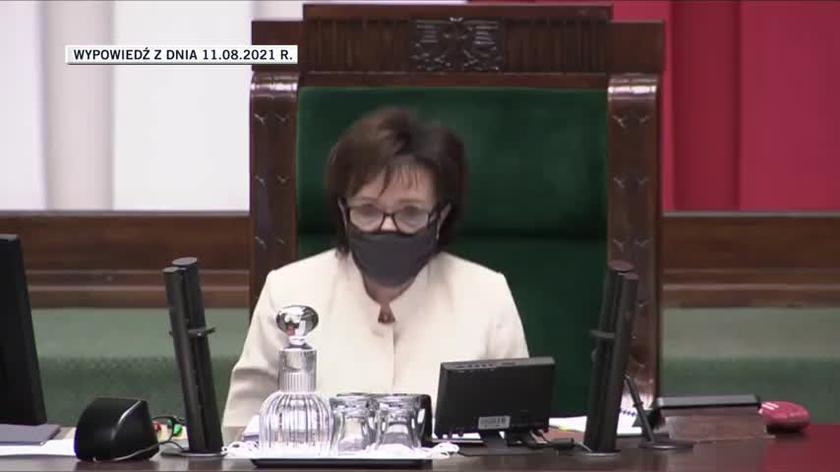 Marszałek Witek: odbędzie się reasumpcja głosowania (wideo z 11 sierpnia)