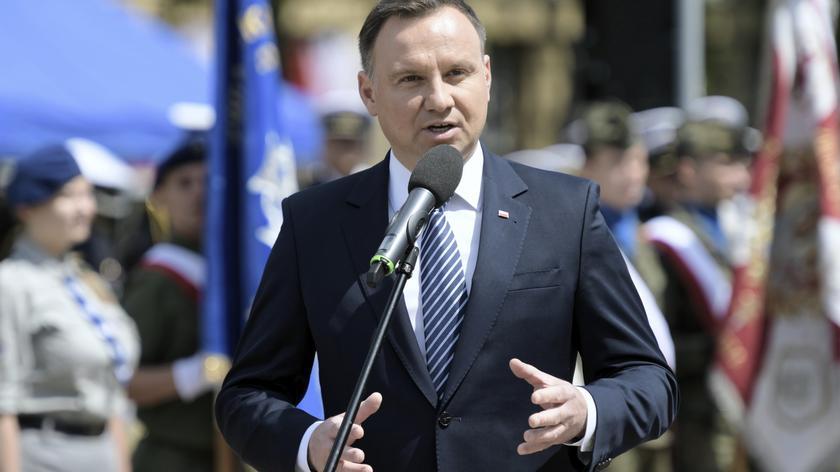 Prezydent wziął udział w odsłonięciu Pomnika Polski Morskiej