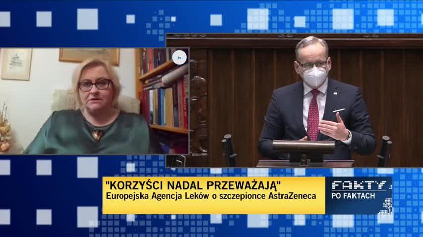 Paradowska-Stankiewicz: Wielka Brytania zaszczepiła AstraZenecą 11 milionów ludzi i nie zgłosiła takich powikłań