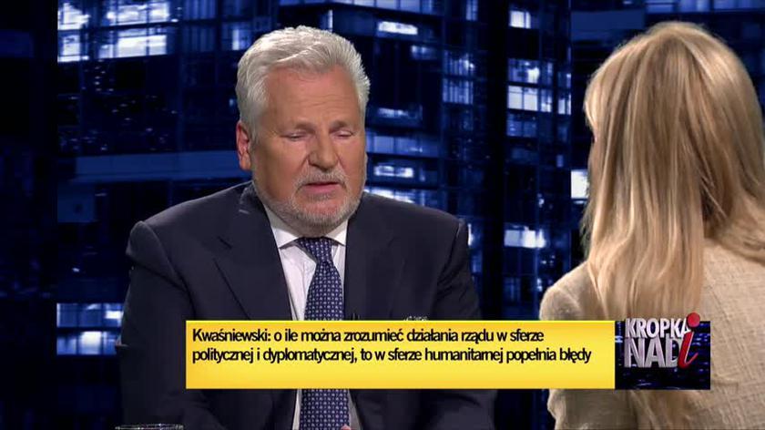 Kwaśniewski: trzeba się zastanowić w co gra Łukaszenka