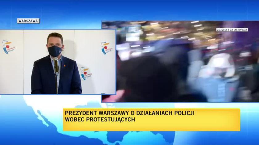 Trzaskowski: zastanowię się nad zawieszeniem wspierania finansowego policji