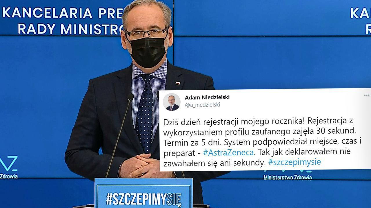 Minister Niedzielski zapisał się na szczepienie: AstraZeneka. Nie zawahałem się ani sekundy