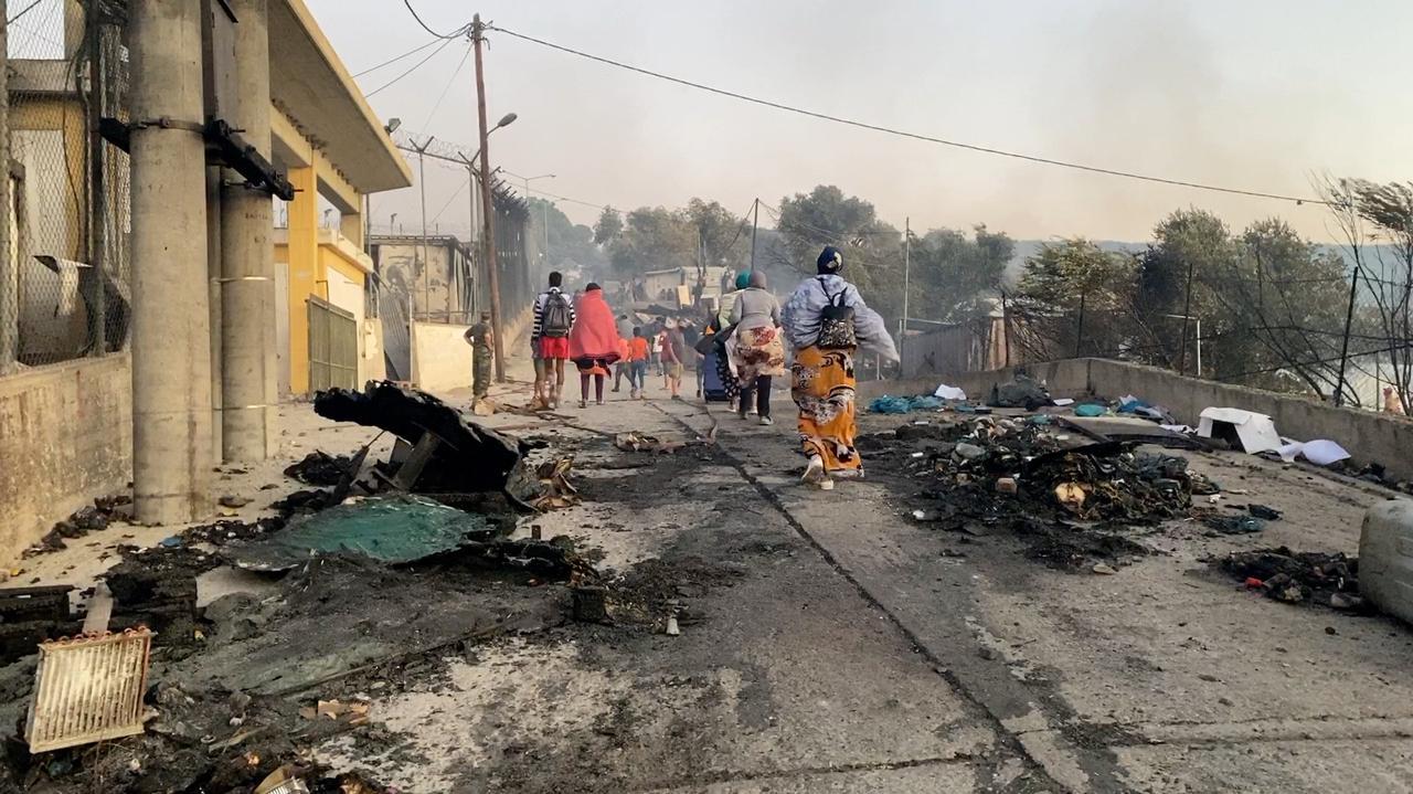 Czterej Afgańczycy skazani za pożar w obozie Moria