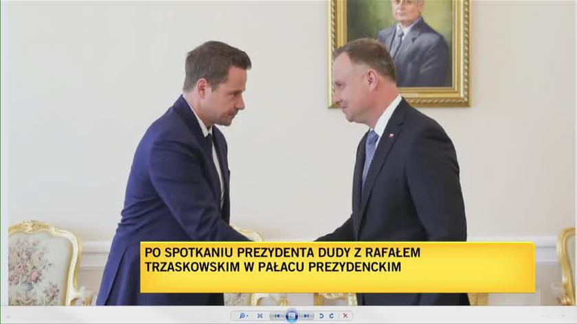 Trzaskowski po spotkaniu z Andrzejem Dudą