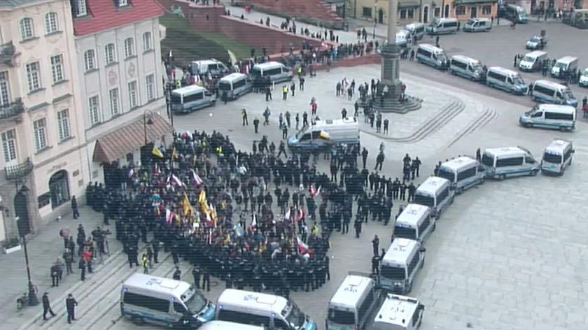 Spięcia na ulicach Warszawy
