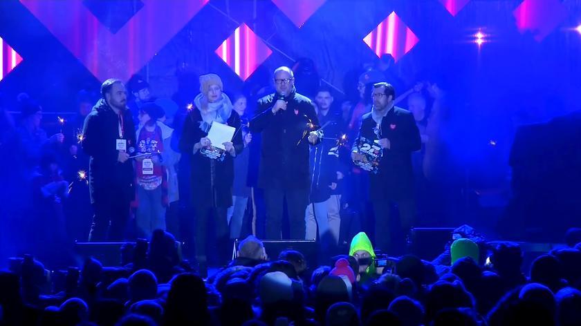 Prezydent Adamowicz tuż przed atakiem