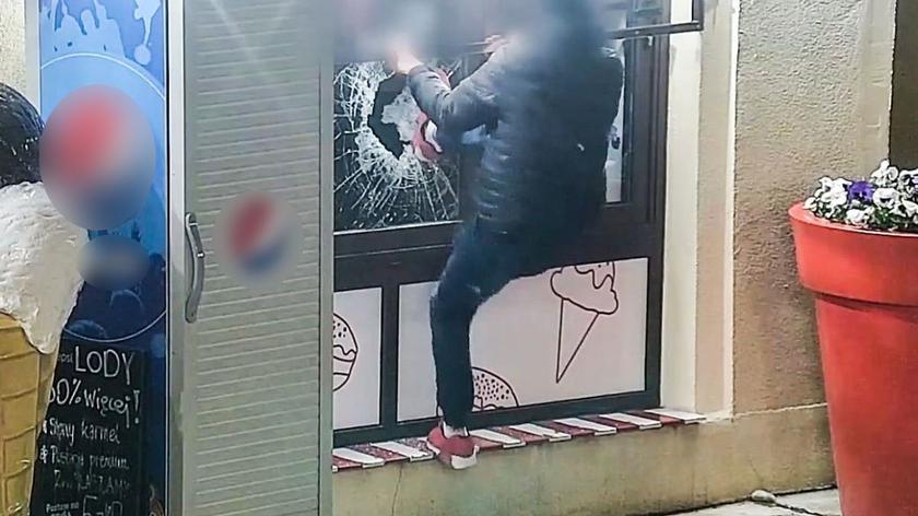 Zielona Góra: Próbował włamać się do lodziarni, zatrzymała go policja