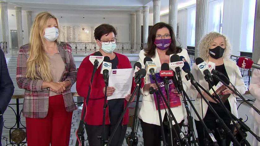 Lewica składa zawiadomienie do prokuratury o podejrzeniu popełnienia przestępstwa przez marszałek Witek