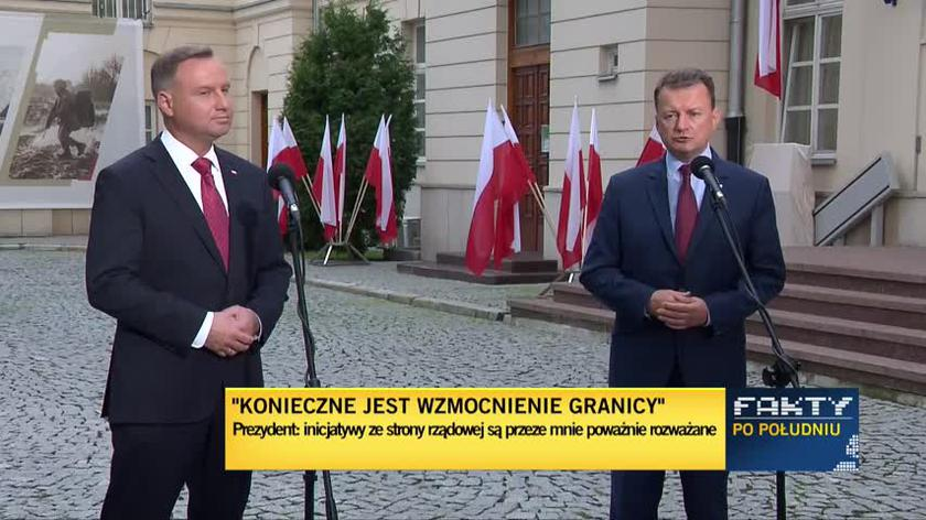 Błaszczak: Sytuacja na granicy polsko-białoruska jest napięta. Jest to związane z atakiem hybrydowym na nasz kraj i na Unię Europejską