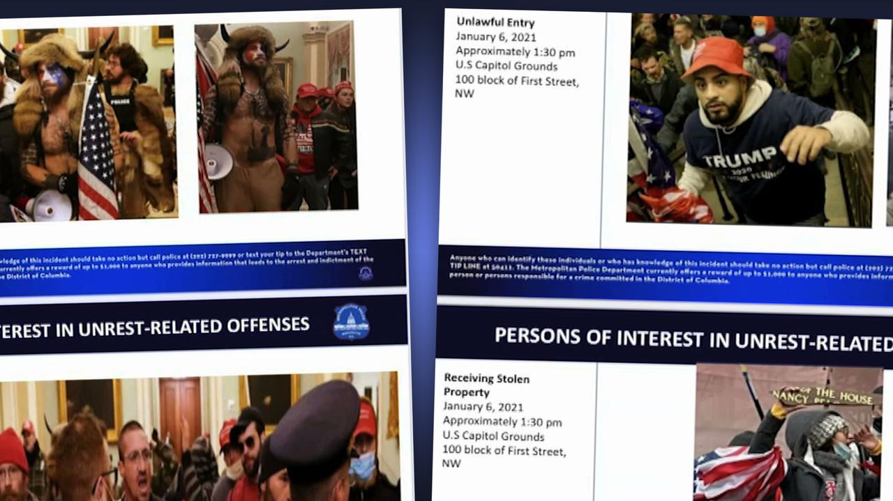 Zaatakowali Kapitol, policja publikuje ich zdjęcia