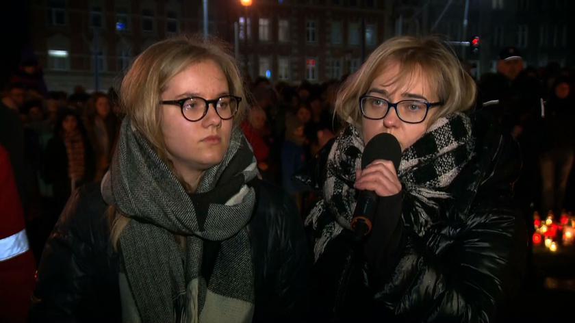 Antonina Adamowicz i Magdalena Adamowicz zabrały głos podczas zgromadzenia w Gdańsku