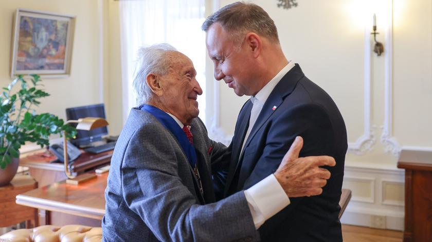 Para prezydencka spotkała się z ocalałym z Holokaustu Edwardem Mosbergiem