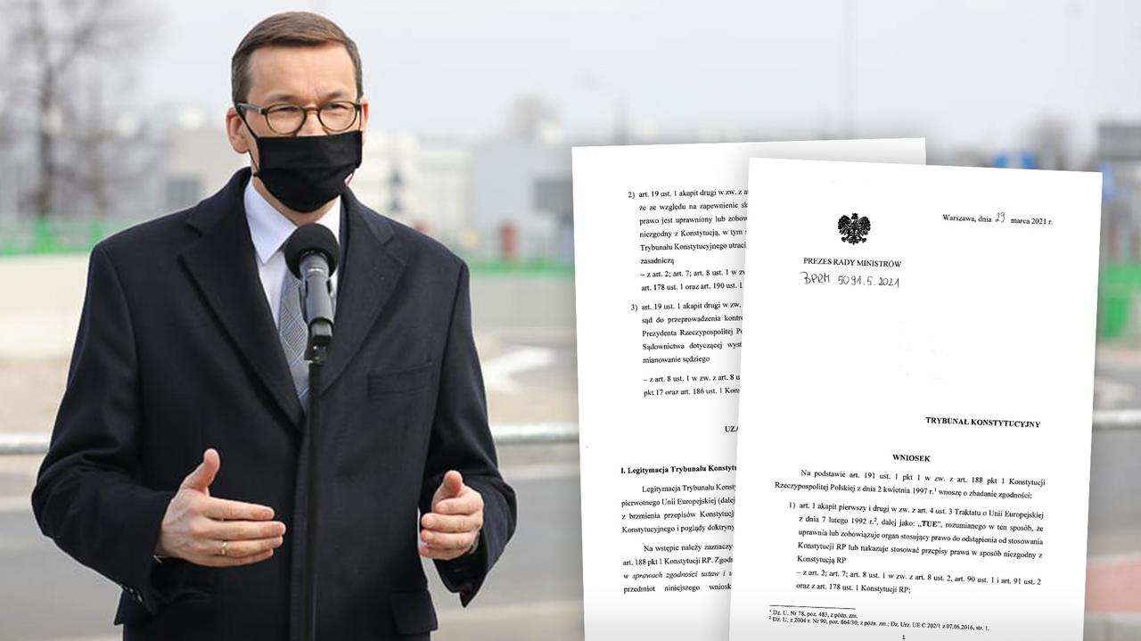 Trybunał Konstytucyjny opublikował wniosek premiera. Reakcja na orzeczenie TSUE