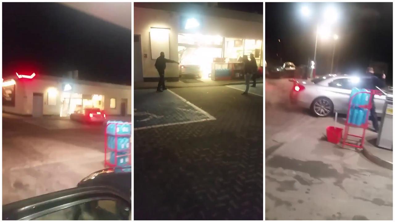Demolowała autem stację benzynową, policjanci sięgnęli po broń.