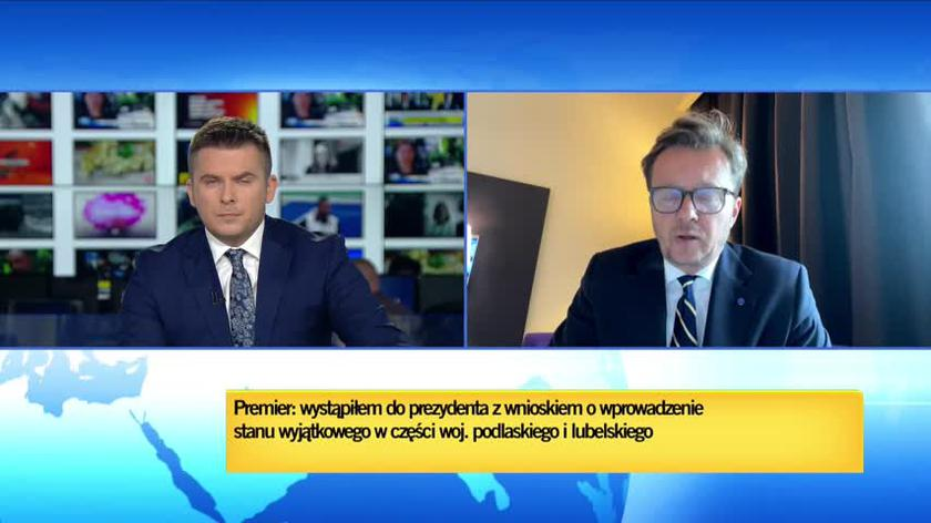 Rząd chce stanu wyjątkowego na obszarach przygranicznych. Michał Wawrykiewicz komentuje