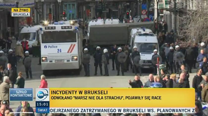 W Brukseli doszło do incydentów z udziałem skrajnej prawicy