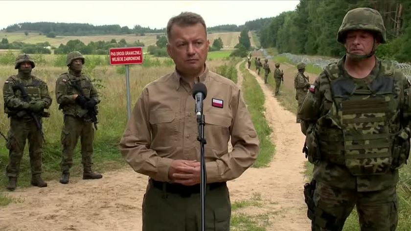 Mariusz Błaszczak o budowie 2,5-metrowego płotu na granicy z Białorusią