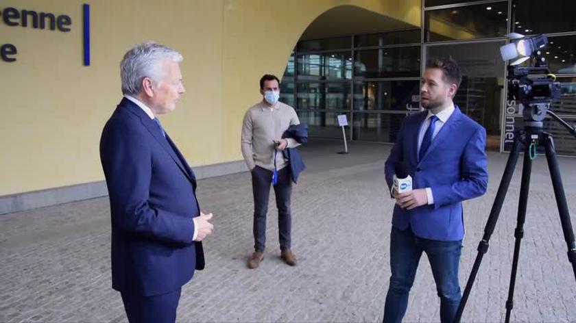 Cała rozmowa Macieja Sokołowskiego z unijnym komisarzem sprawiedliwości Didierem Reyndersem