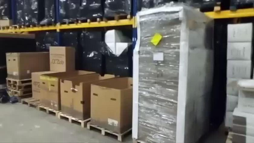 Magazyn z maseczkami ochronnymi
