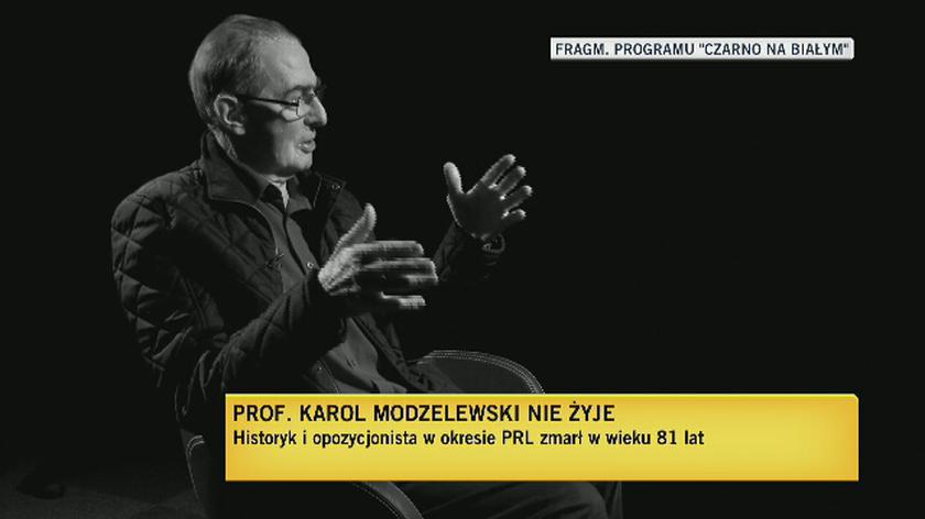 """Prof. Karol Modzelewski w """"Czarno na białym"""" o znaku Solidarność"""