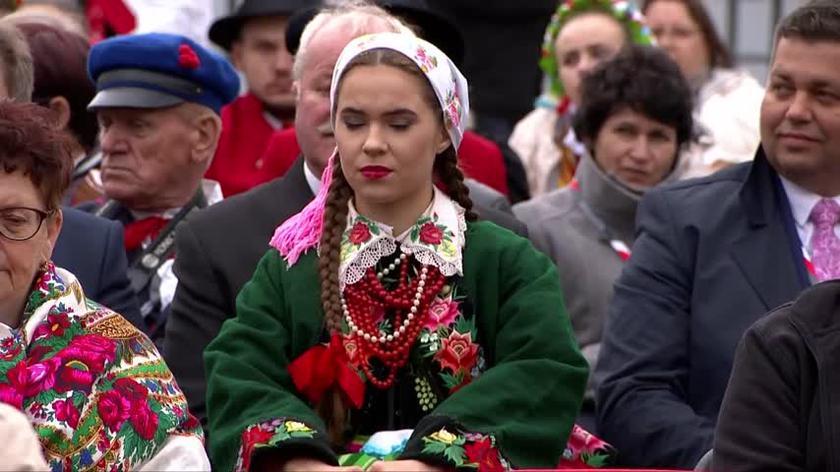 Prezydent Andrzej Duda na Dożynkach Prezydenckich dziękował rolnikom