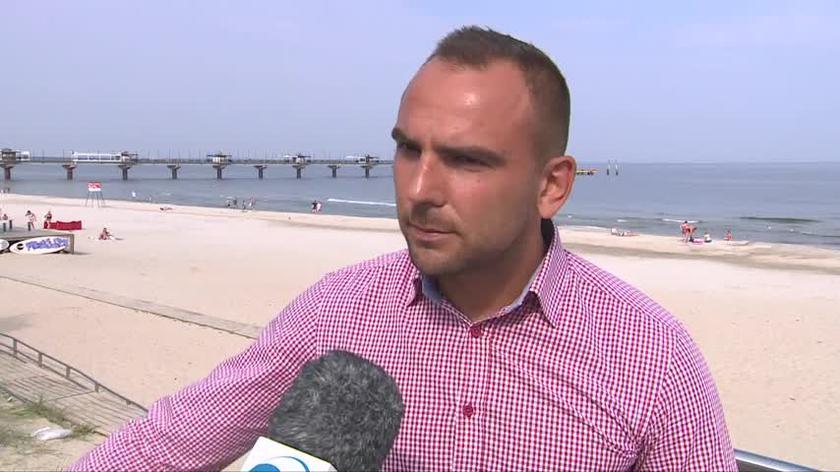 Burmistrz Międzyzdrojów o bezpieczeństwie na plaży