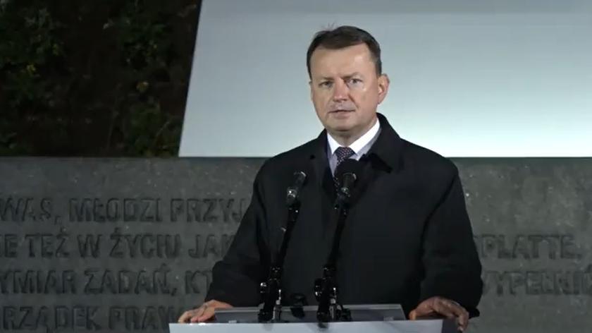 Mariusz Błaszczak: znajdujemy się w miejscu świętym, uświęconym krwią żołnierzy Wojska Polskiego