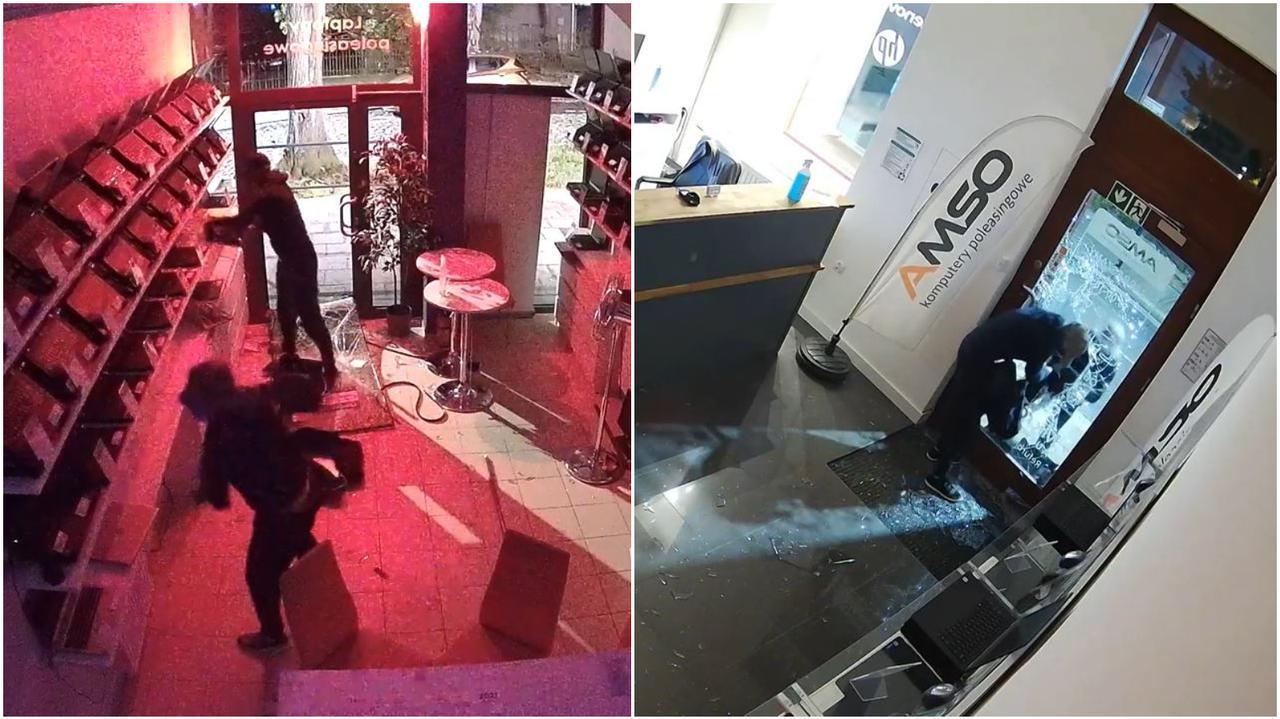 Dwa podobne włamania na dwóch krańcach Polski. Skradziono łącznie ponad 20 laptopów