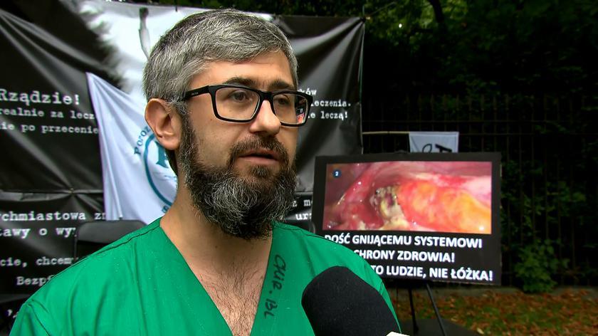 Protestujący lekarz o oczekiwaniu na spotkanie z premierem i przyszłości protestu pracowników ochrony zdrowia
